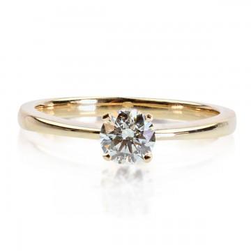 0,40ct Briljandiga solitaire-sõrmus, 750 kollane kuld