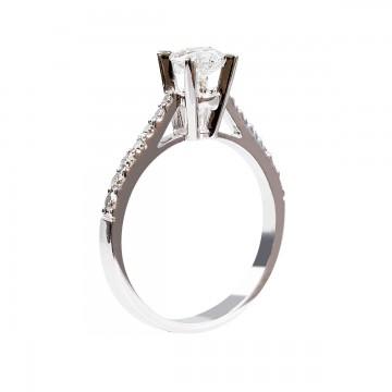 0,76ct briljantsõrmus, valge kuld prooviga 750