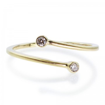 0,05ct moodne briljantsõrmus, kollane kuld 585