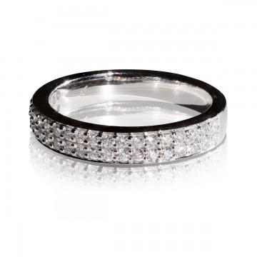 0,42ct briljantsõrmus, valge kuld prooviga 750