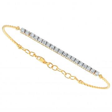 0,70ctw teemantkäevõru, kuld prooviga 750