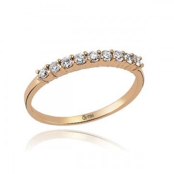 0,22ctw briljantsõrmus, punane kuld prooviga 750