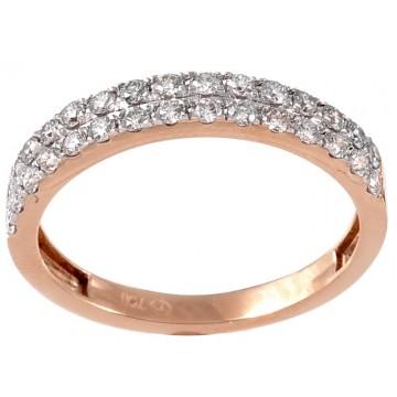 0,50ctw briljantsõrmus, punane kuld prooviga 750