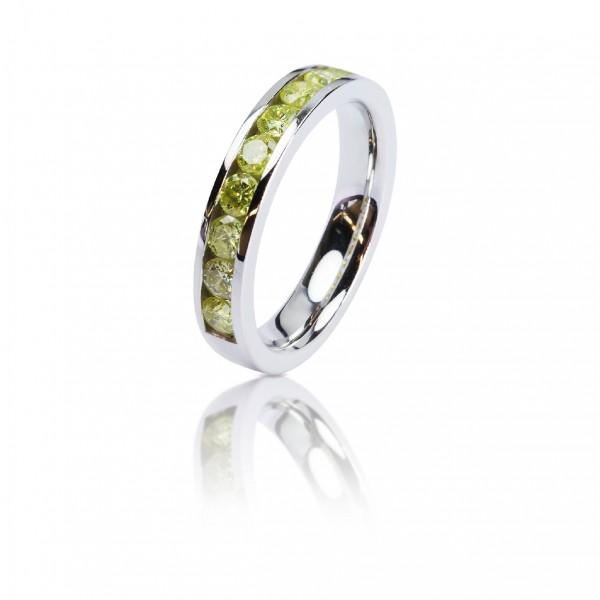 58d4a59deb4 0,90ct kollaste briljantidega, half-eternity sõrmus, valge kuld 585