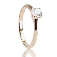 0,40ct Briljandiga solitaire-sõrmus, 750 roosa kuld
