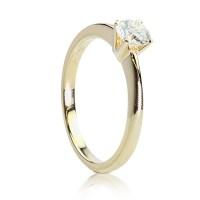 30d131ef150 0,40ct Briljandiga solitaire-sõrmus, 750 kollane kuld