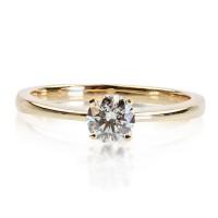 0,42ct Briljandiga solitaire-sõrmus, 750 kollane kuld