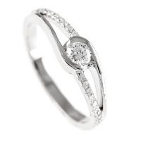0,35ctw briljantsõrmus, valge kuld prooviga 750
