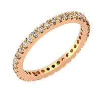0,50ct eternity briljantsõrmus, punane kuld prooviga 750
