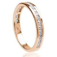 0,50ct briljantsõrmus, roosa kuld prooviga 585