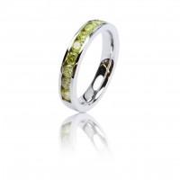 0,90ct kollaste briljantidega, half-eternity sõrmus, valge kuld 585
