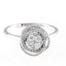 0,31ctw moodne briljantsõrmus, valge kuld prooviga 750