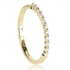 0,12ct briljantsõrmus, kollane kuld prooviga 585