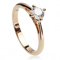 0,50ct Briljantsõrmus, 750 roosa kuld