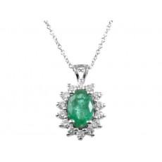 0,45ct smaragdripats briljantidega