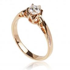 0,40ct Briljantsõrmus, 750 roosa kuld
