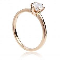 0,60ct solitaire briljantsõrmus, roosa kuld 750