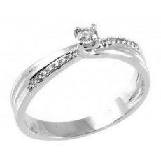0,17ctw briljantsõrmus, valge kuld prooviga 750