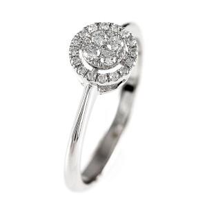 0,20ctw briljantsõrmus, valge kuld prooviga 750