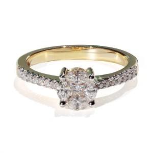 0,56ct Briljantsõrmus, kollane kuld prooviga 750