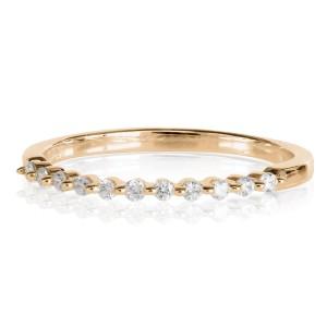 0,12ct briljantsõrmus,roosa kuld prooviga 585