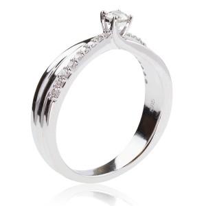 0,22ct briljantsõrmus, valge kuld 585