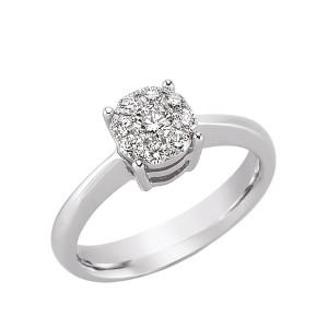 0,39ctw briljantsõrmus, valge kuld prooviga 750