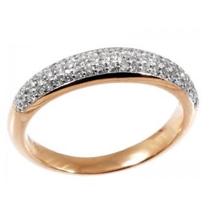 0,40ctw briljantsõrmus, punane kuld prooviga 750