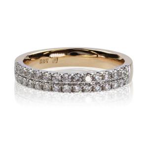 0,50ct briljantsõrmus, punane kuld prooviga 585