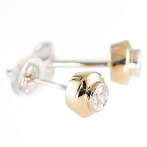 0,22ctw teemantkõrvarõngad, kuld prooviga 750
